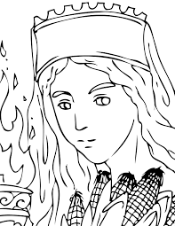 demeter coloring page handipoints
