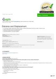distance and displacement lesson plans u0026 worksheets