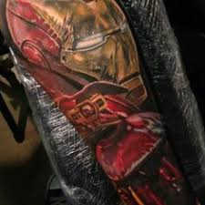 ironman tattoo half sleeve by dean lawton amazing tattoo artwork
