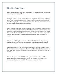 the birth of jesus bible story printable
