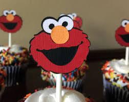 elmo cupcake topper etsy