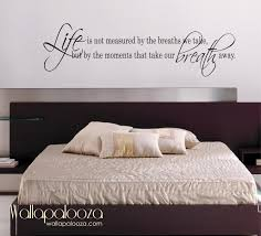 teenage bedroom with inspirational black wall stickers and white life is not measured wall decal love wall decal bedroom