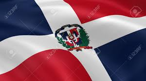 Domenican Flag Dominican Republic Flag In The Wind Part Of A Series Stock Photo