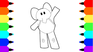draw elephant elly pocoyo coloring pages baby