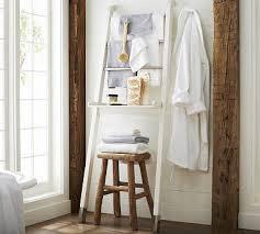 Leaning Bathroom Ladder Over Toilet by Best 25 Ladder Storage Ideas On Pinterest Garage Organization