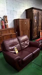 canape cuir occasion 20337 1 1er canape cuir bordeaux a 250 l un occasion mobilier