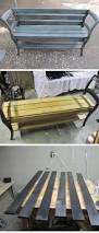 Garden Wooden Bench Diy by Best 25 Pallet Garden Benches Ideas On Pinterest Pallet Garden