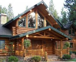 Cool Log Homes Impressive Cool Log Cabin Ideas Using Stacked Stone Veneer For