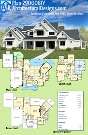 4 Bedroom Craftsman House Plans by Plan 290008iy Luxurious 6 Bed House Plan With 3 Levels Of Living