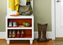 entryway storage bench with coat rack storage decorations