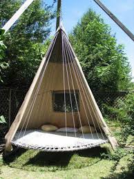 swing bed made from recycled trampoline diy trampoline bed
