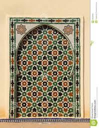 morocco meknes islamic wall panel arabesque decorated intricate