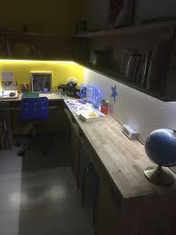 led bureau bureau chêne avec éclairage led réalisation perso nico