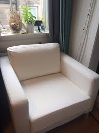 karlstad chair cover excellent condition white ikea karlstad armchair cover for sale