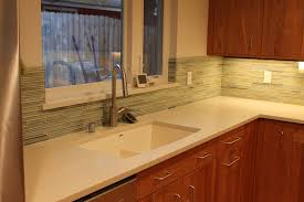 kitchen design chrome pull out faucet green mosaic ceramic tile