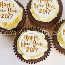 Cake Decorations For New Year by Happy New Year 2017 Cupcake Toppers Pre Cut Gold And White New