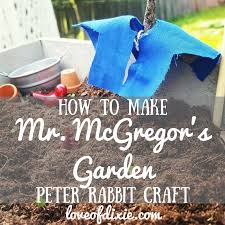 mr mcgregor s garden rabbit how to make mr mcgregor s garden a simple rabbit craft