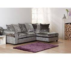 Grey Silver Sofa Marilyn Crushed Velvet Corner Sofa Silver H O M E Pinterest