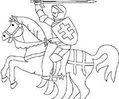 coloriage chevalier cheval