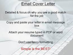 Email To Attach Resume Cover Letter Curriculum Vitae Ppt Download