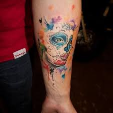 watercolor sugar skull designs ideas and meaning tattoos