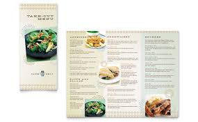 cafe deli take out brochure template word u0026 publisher