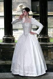 white silk elizabethan wedding gown with 3500 crystals