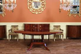 High End Dining Room Furniture 60 Round To 88 Oval Mahogany Dining Table With 4 Extensions