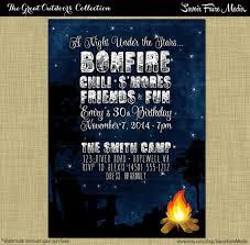 Backyard Birthday Party Invitations by Bonfire S U0027mores Birthday Party Invitation Backyard