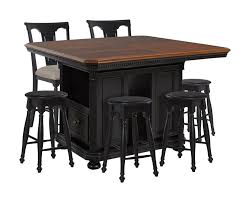avalon furniture rivington hall kitchen island 4 backless stools