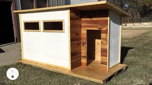 Enjoyable Inspiration 2 Dog House Plans Video Build A Modern Homeca