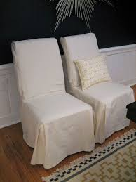 Armchair Slipcovers Design Ideas White Dining Room Chair Slipcovers