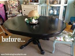 Painted Dining Table by How To Update An Old Dining Room Set Painted Dining Table Finally