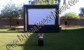 Backyard Projector Screen by Inflatable Outdoor Movie Screen Rental Phoenix Az Outdoor Movie