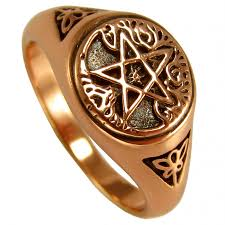 wiccan engagement rings tree of and pentacle copper ring wicca witchcraft pagan