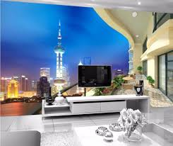 online get cheap shanghai paintings aliexpress com alibaba group custom photo 3d room wallpaper picture balcony outside shanghai decoration painting 3d wall murals wallpaper for