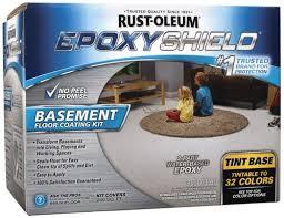 rust oleum epoxyshield tintable base basement floor coating kit