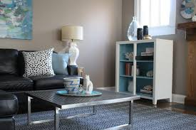 Grey And Turquoise Living Room Ideas by Turquoise Grey Living Room Double Side Table Red Leather Sofa The