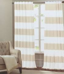 Beige And White Curtains Solid Thermal Blackout Curtain Panels Contemporary Curtains Inside