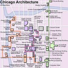 chicago map with attractions 15 top tourist attractions in chicago planetware