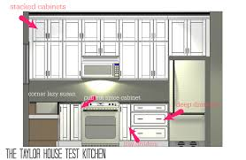 Draw Kitchen Cabinets by Planning A New Home Test Kitchen Cabinets The Taylor House