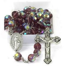 birthstone rosary birthstone rosary february immaculate center