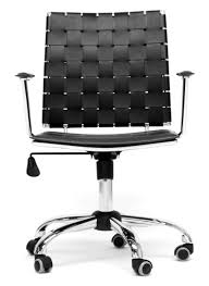 Wholesale Interiors Vittoria Leather Modern Office Chair Wholesale Interiors White