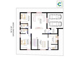 4 bhk floor plan for 50 x 50 plot 2500 square feet 278