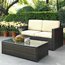 patio ideas crosley furniture palm harbor 2 piece wicker patio