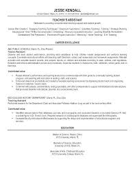 resume templates for assistant preschool resume template