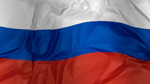 3d illustration of russia flag white blue and red in silk cloth