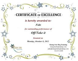 Free Certificate Of Excellence Template 9 Best Images Of Certificate Of Excellence Free Printable