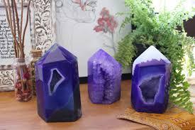 agate home decor purple agate polished druzy point 2 to 3 lbs agate home decor