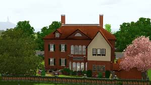 Queen Anne Style Home Mod The Sims Little Worsley Hall Circa 1706